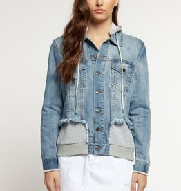 DEX WOVEN DENIM JACKET W/HOOD