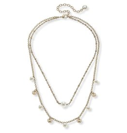 CANVAS BAILEY LAYERED DRIP NECKLACE IN IVORY PEARL