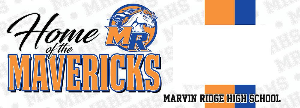 LOCAL HIGH SCHOOL SIGN/FRAME- MARVIN RIDGE