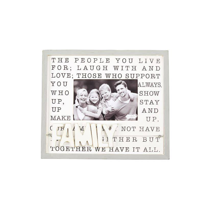 MUD PIE FAMILY DEFINITION WIRE & WOOD FRAME