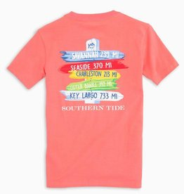 SOUTHERN TIDE YOUTH BEACH SIGNS TEE