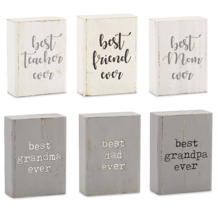 MUD PIE BEST EVER ENGRAVED BLOCK PLAQUE