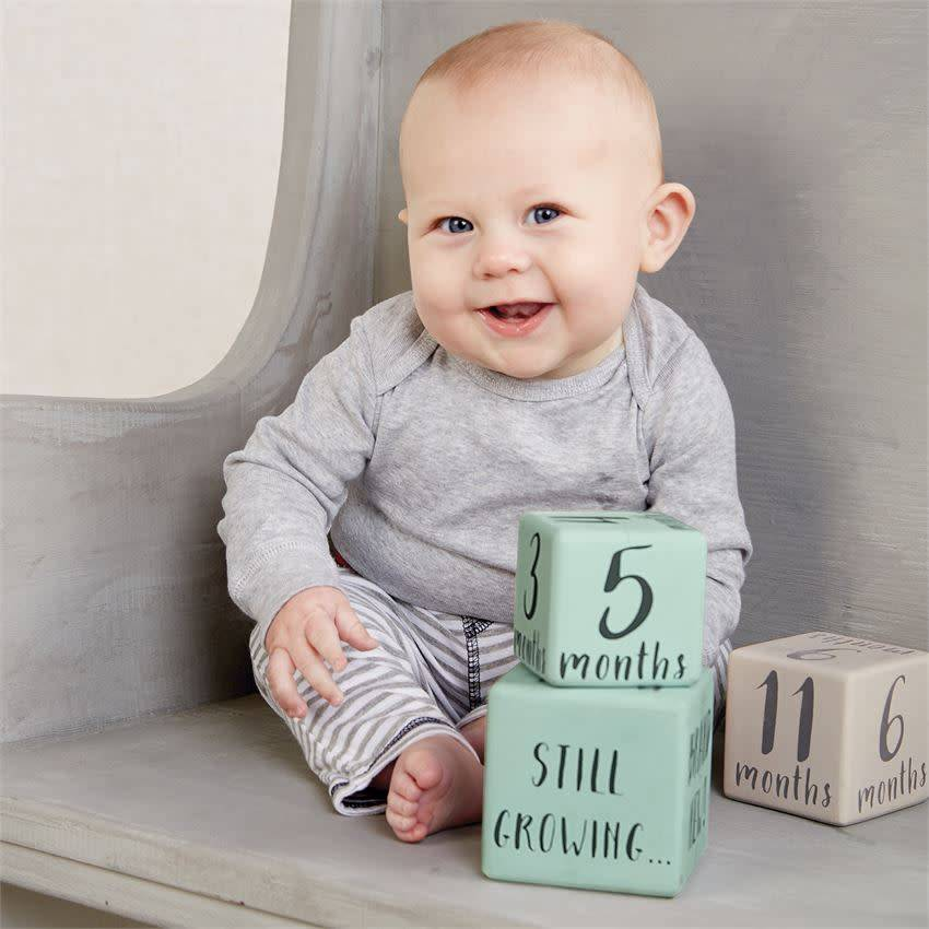 MUD PIE BOY MILESTONE BLOCKS