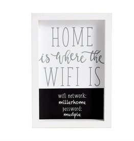 MUD PIE HOME IS WHERE THE WIFI IS PLAQUE