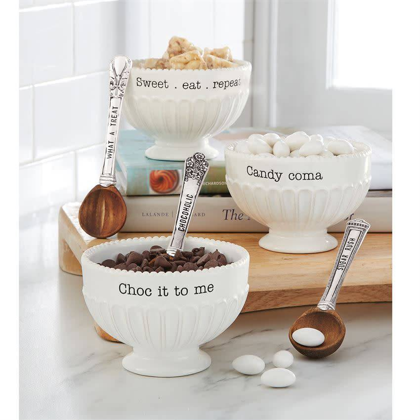 MUD PIE PEDESTAL CANDY DISH SET