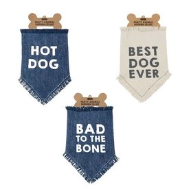 MUD PIE DENIM DOG BANDANAS
