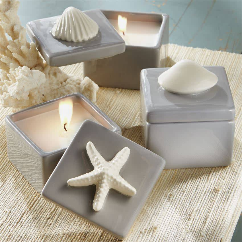 MUD PIE SHELL CERAMIC CANDLE