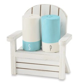 MUD PIE SALT & PEPPER IN WOOD CHAIR