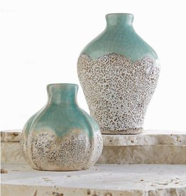 MUD PIE CRACKLE TERRACOTTA BUD VASE