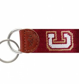 SMATHERS & BRANSON COLLEGE OF CHARLESTON NEEDLEPOINT KEY FOB