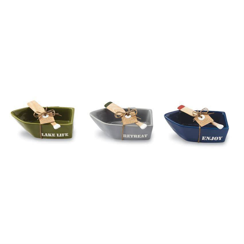 MUD PIE BOAT & PADDLE DIP CUP SET