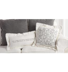 MUD PIE FAMILY & HOME FRAYED COTTON PILLOWS