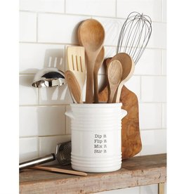 MUD PIE RIBBED UTENSIL CROCK