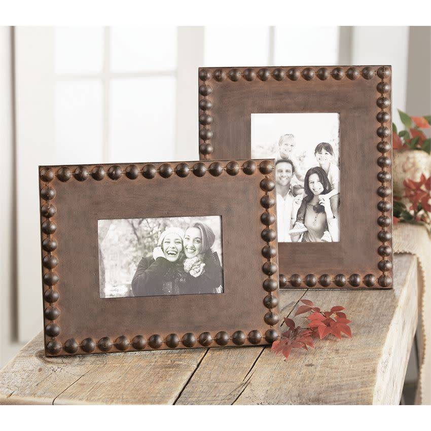 MUD PIE NAILHEAD TIN FRAMES