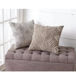 MUD PIE WOVEN DIAMOND PILLOWS