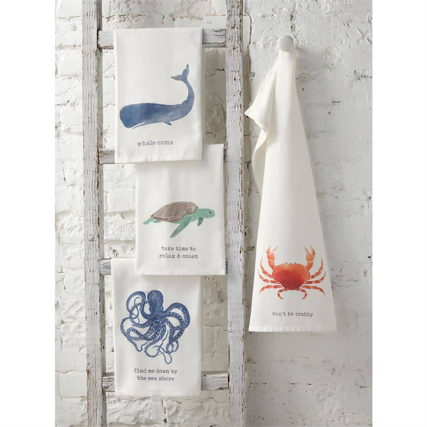 MUD PIE NAUTICAL ICON DISH TOWELS