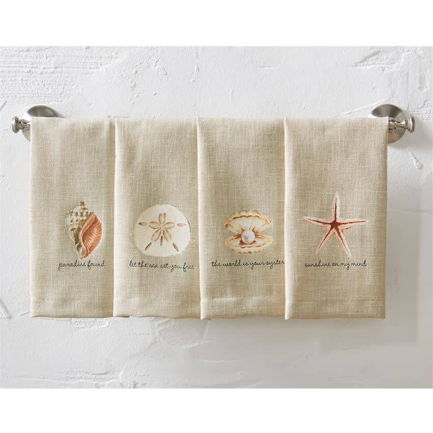 MUD PIE SEA SENTIMENT ICON TOWELS