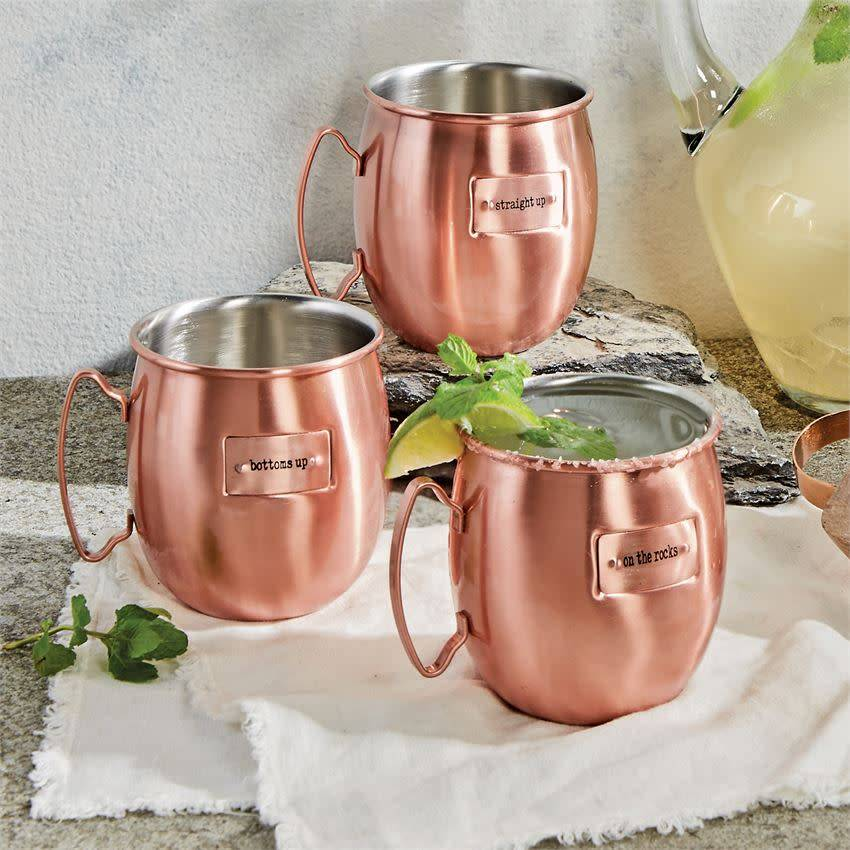 MUD PIE COPPER MULE MUGS