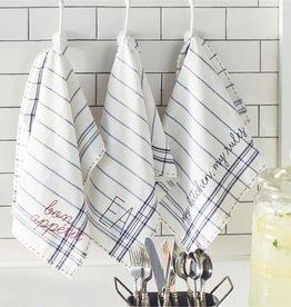 MUD PIE BISTRO EMBROIDERED DISH TOWELS