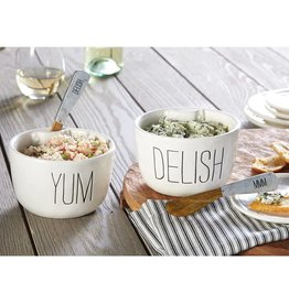 MUD PIE DELISH & YUM DIP BOWL SETS