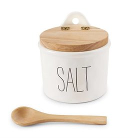 MUD PIE BISTRO SALT CELLAR & SPOON SET