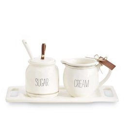MUD PIE BISTRO CREAM & SUGAR SET