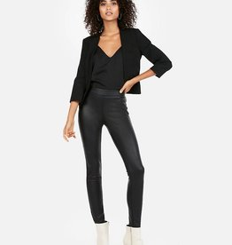 FAUX LEATHER PULL-ON PANTS