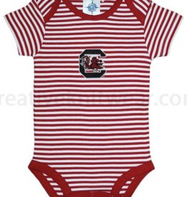SOUTH CAROLINA STRIPED ONESIE 3-6 MOS