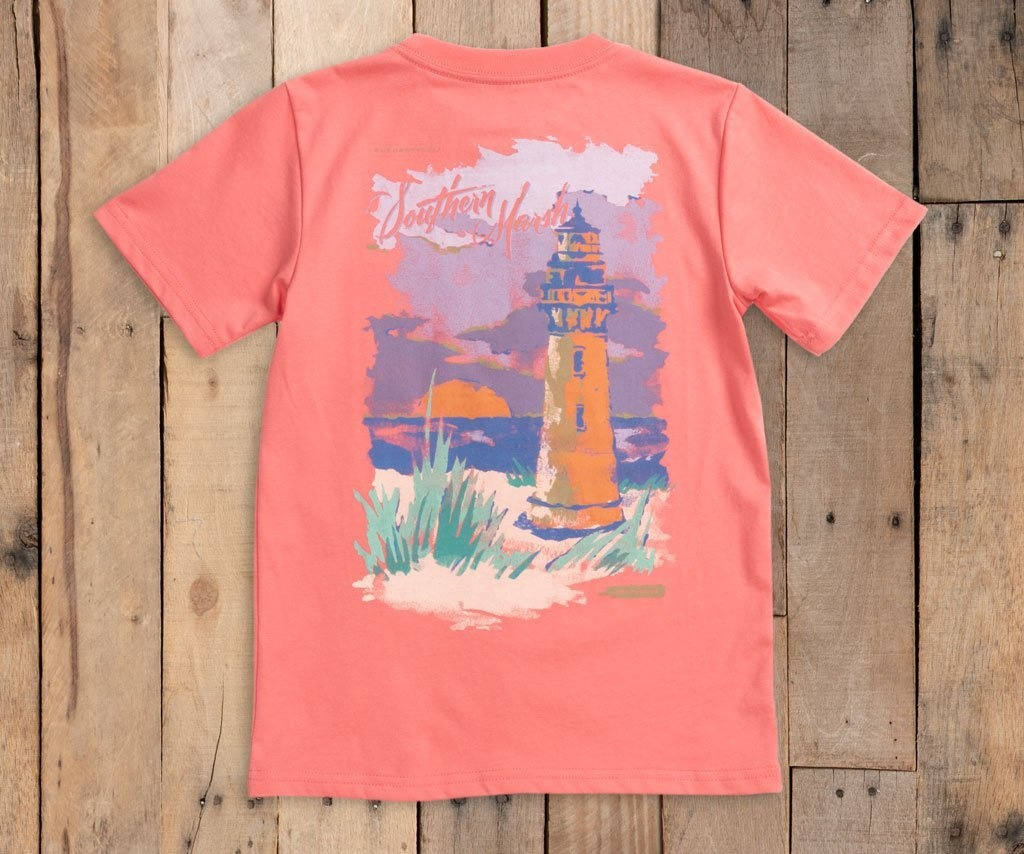 SOUTHERN MARSH YOUTH SOUTHERN HORIZONS T-SHIRT- LIGHTHOUSE