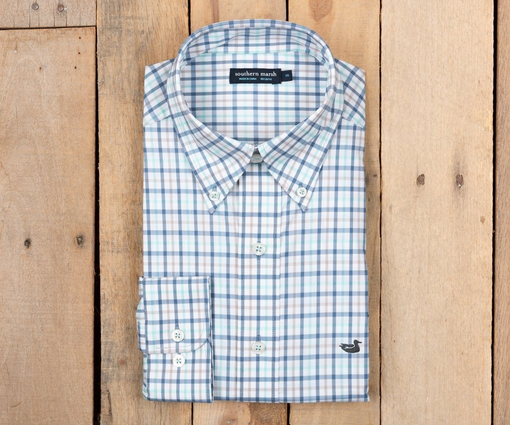 SOUTHERN MARSH CHAMBERS PERFORMANCE GINGHAM SPORT SHIRT