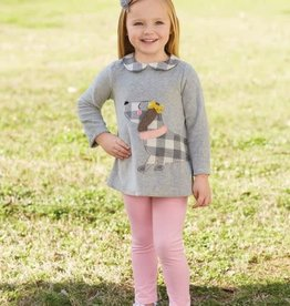 MUD PIE CHECK PUPPY TUNIC AND LEGGING SET