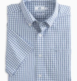 SOUTHERN TIDE LUCAYAN GINGHAM INTERCOASTAL S/S SPORTSHIRT
