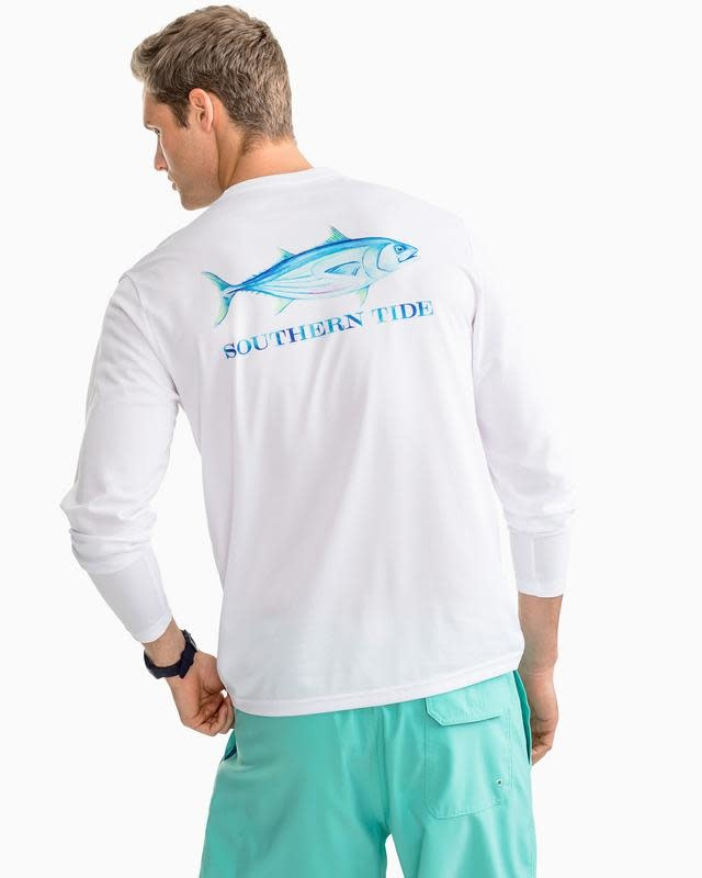 SOUTHERN TIDE WATERCOLOR SKIPJACK L/S PERFORMANCE TEE
