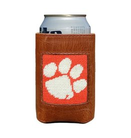 SMATHERS & BRANSON COLLEGIATE CAN COOLER CLEMSON- WHITE & ORANGE