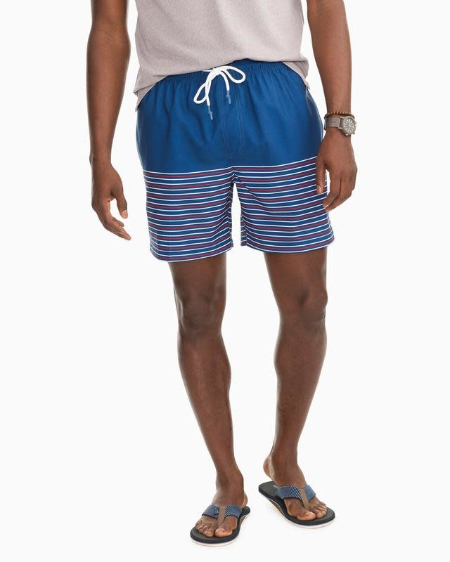 SOUTHERN TIDE FIREWORKS STRIPE SWIM TRUNK