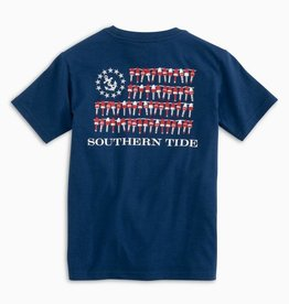 SOUTHERN TIDE YOUTH NAUTICAL BUOYS FLAG TEE