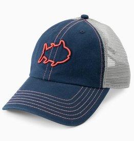 SOUTHERN TIDE CONTRAST STITCH SKIPJACK TRUCKER HAT - YACHT BLUE