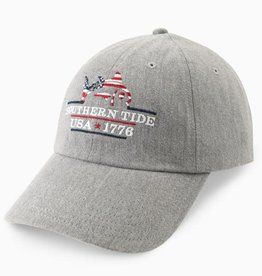 SOUTHERN TIDE PATRIOTS EMBROIDERED HEATHER HAT- GRAY