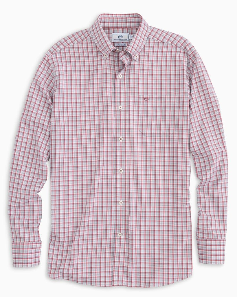 SOUTHERN TIDE PATRIOTIC PLAID INTERCOSTAL SPORTSHIRT