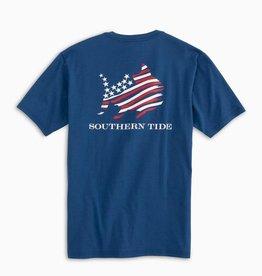 SOUTHERN TIDE AMERICAN SKIPJACK  SHORT SLEEVE TEE