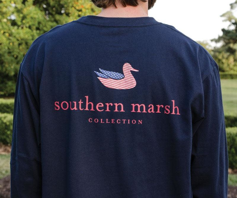 SOUTHERN MARSH AUTHENTIC FLAG L/S TSHIRT NAVY