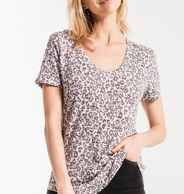 Z SUPPLY THE LEOPARD V-NECK TEE
