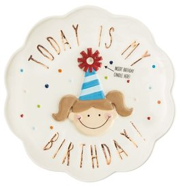 MUD PIE BIRTHDAY GIRL CANDLE PLATE