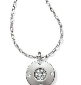 BRIGHTON CONTEMPO ICE REVERSIBLE PETITE ROUND NECKLACE