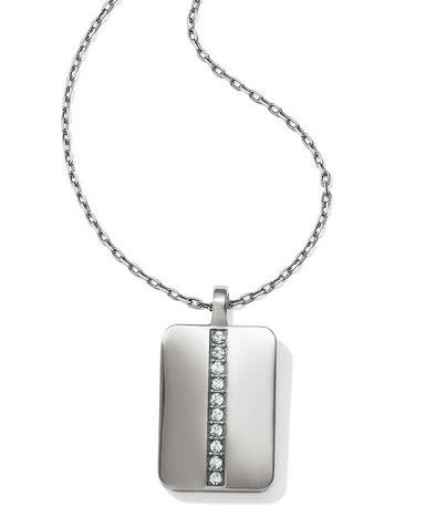 BRIGHTON CONTEMPO ICE REVERSIBLE PETITE TILE NECKLACE