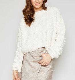 SADIE & SAGE azalea heavy cropped sweater