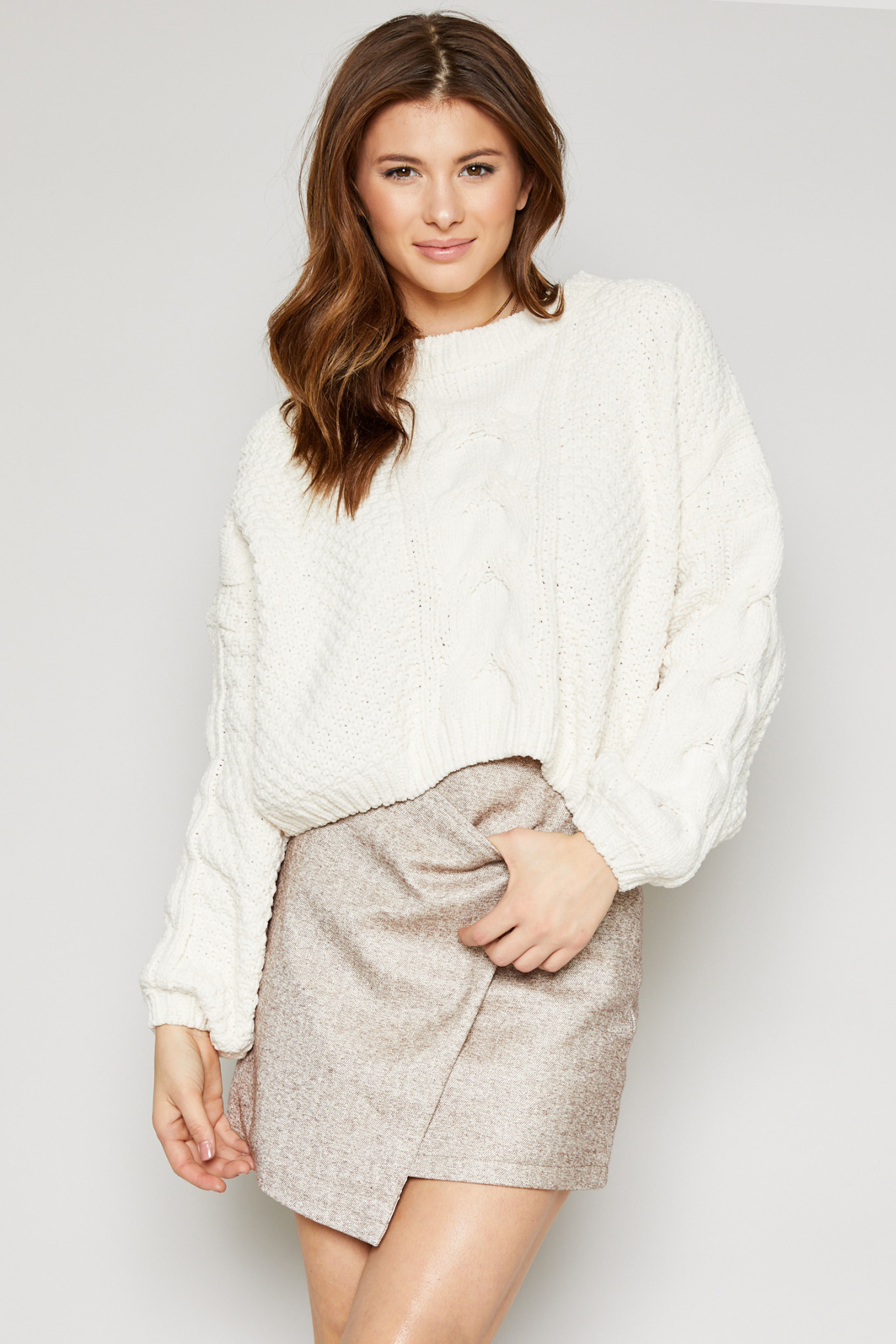 SADIE & SAGE azalea heavy cropped sweater