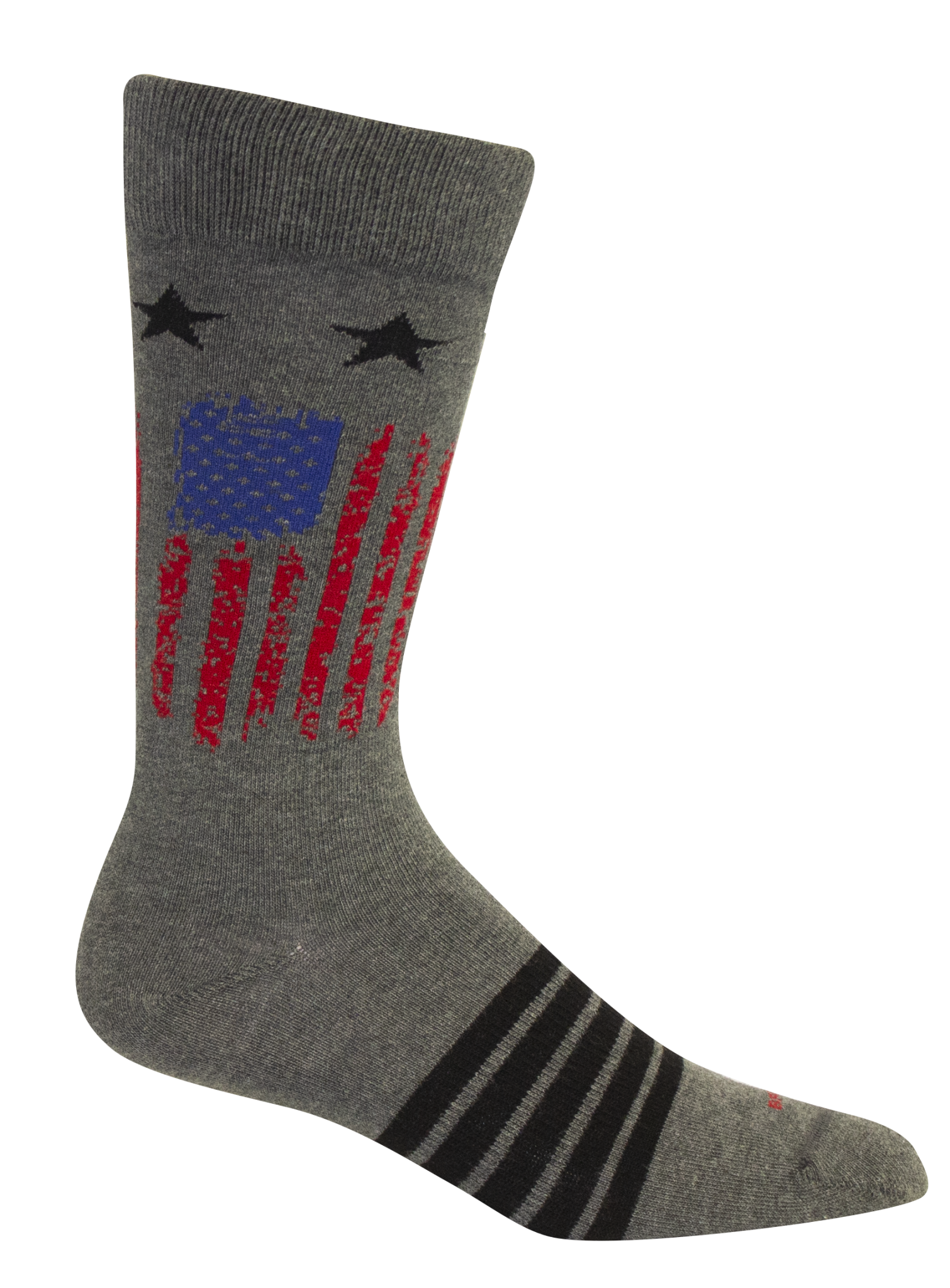 BROWN DOG HOSIERY ALAMANCE FLAG- GREY