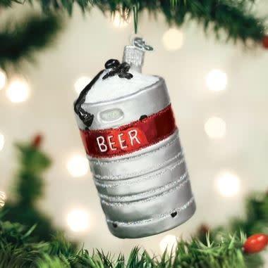 OLD WORLD CHRISTMAS aluminum beer keg