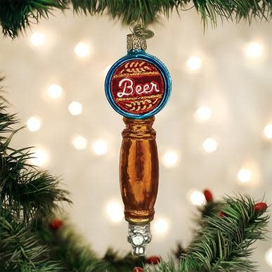 OLD WORLD CHRISTMAS beer tap ornament